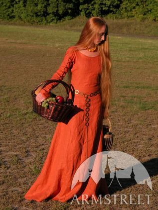 "Medieval Dress Tunic ""Red Elise"""