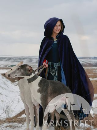 Medieval Exclusive Pure Natural Velvet Cloak