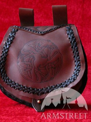 Medieval Leather Belt Bag Pouch