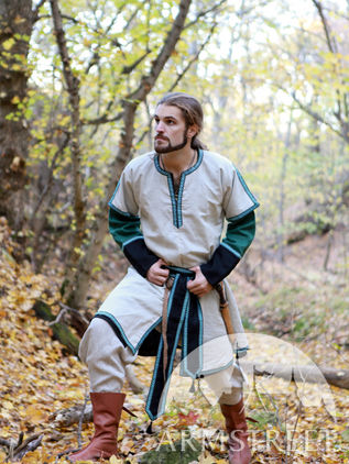 Medieval Long Man Tunic With Overcoat. for sale :: by medieval store
