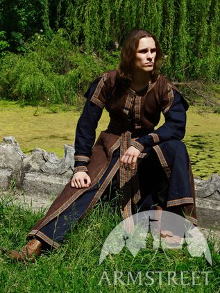 Medieval Long Tunic and Overcoat Set
