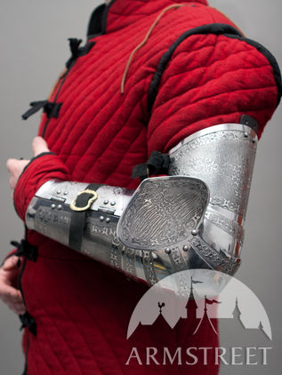Medieval Western Arms Armor Etched SCA Paladin