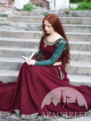 "Medieval Woolen Dress ""Green Sleeves"" Limited"