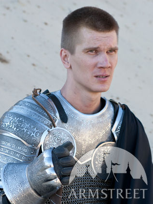"Pauldrons and Gorget Armor Set ""Paladin"""