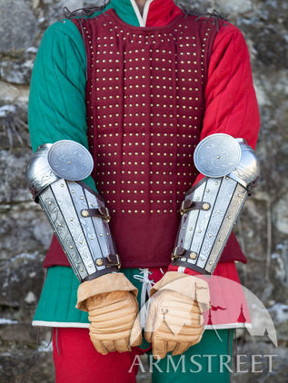 Medieval Splint Vambraces with Elbows