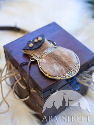 Viking's Leather Pouch for Coins