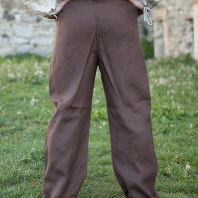 Medieval Linen Pants Available In Green Flax Linen Blue