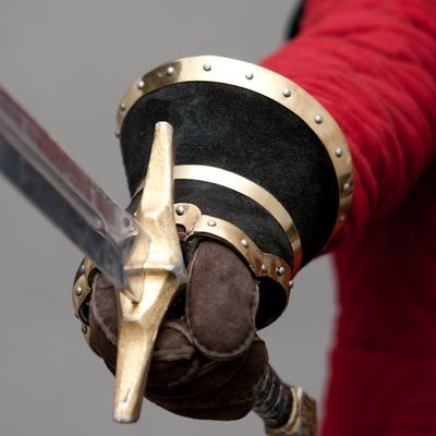 Split Leather Covered Gauntlet For Sale Available In