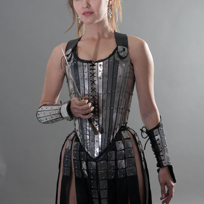 "c3849c2df3 ... Fantasy ""Lady Warrior"" Functional Etched Armor Corset. Share"