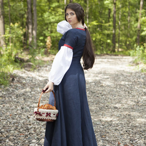 dcb8b1c5628 Flax linen medieval dress