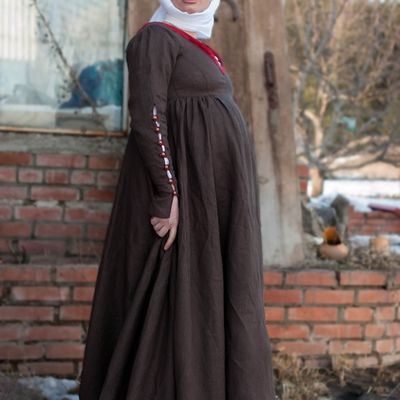 German XV century style medieval kirtle dress costume sca