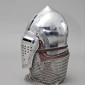 Knight Helmet Bascinet Klappvisor Armour SCA Reenactment for