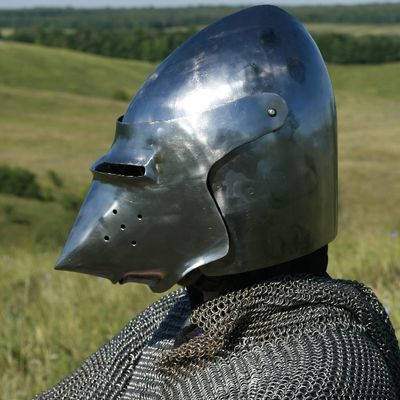 Medieval helm, bascinet, SCA armour, SCA helm for sale