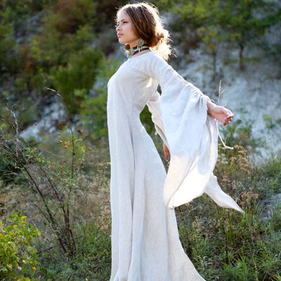 """... Medieval Linen Dress """"Archeress"""" with Undertunic and Corset. Share e0a724013"""