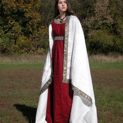 Medieval Quot Franks Quot Dress And Underdress Set Natural Flax