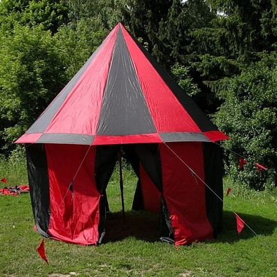 Medieval classic 12 panels round reep-stop fabric tent with floor for sale. Available in red dark blue black yellow white red dark blue black ... & Medieval classic 12 panels round reep-stop fabric tent with floor ...