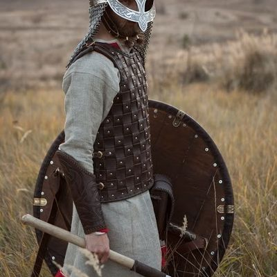 Viking Leather Body Armor Available In Brown Leather