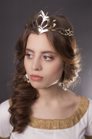 "Brass Circlet Crown ""Lady Hunter"""