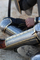"Eastern Style Functional Medieval Greaves with Cops ""Prince of the East"""
