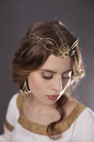 "Fantasy Brass Circlet ""Art Nouveau"""