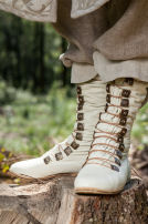 "Fantasy ""Elven"" Leather Forest Boots"