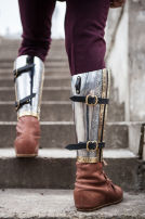 "Medieval Armor Greaves ""The King's Guard"" SCA"