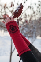 "Mittens Gloves ""Milorada"" with Embroidery"
