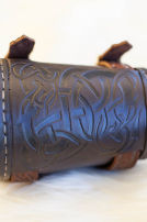 Viking Bracers Embossed Leather