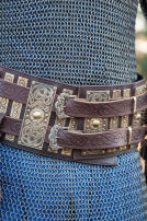 Viking Leather and Brass War Belt