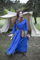 "Viking Linen Dress Tunic ""Ingrid the Hearthkeeper"""