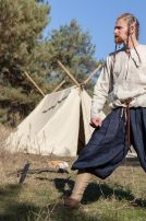 Viking Linen Pants with Lacing