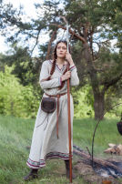 "Viking Natural Linen Dress Tunic ""Eydis the Shieldmaiden"""