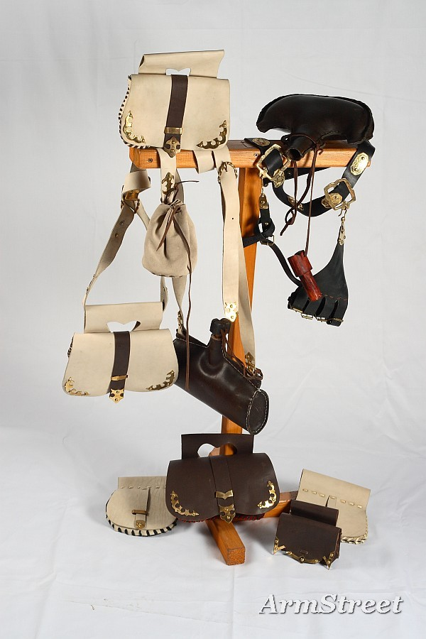 New ArmStreet's collection of leather belts,bags and flasks