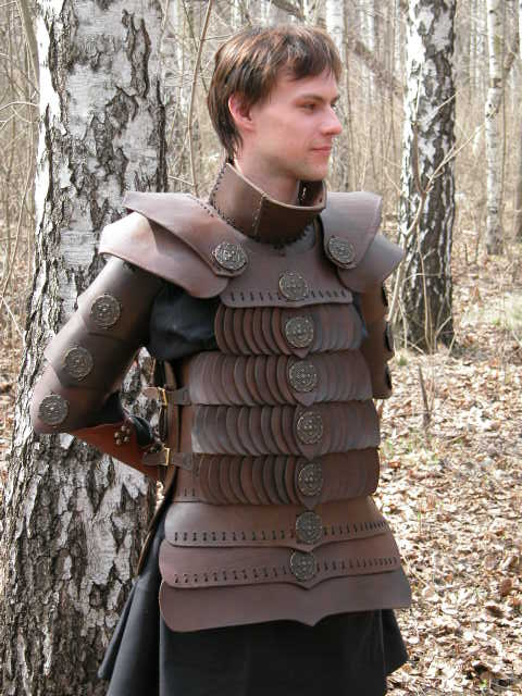 Handmade leather armor suit