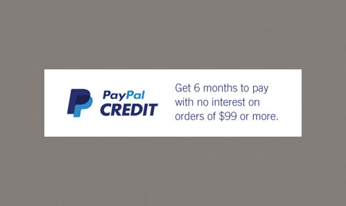 Paypal credit: buy armour, clothes, footwear with 6-month