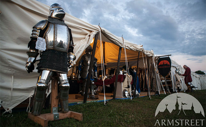 Setting up our Pennsic Booth