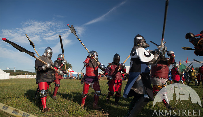 Pennsic armored battle
