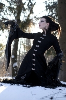 Long wool gothic coat