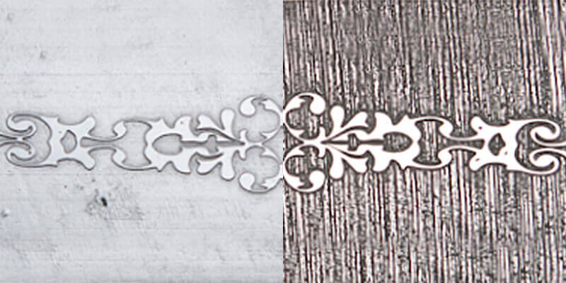 Etched stainless vs mild steel