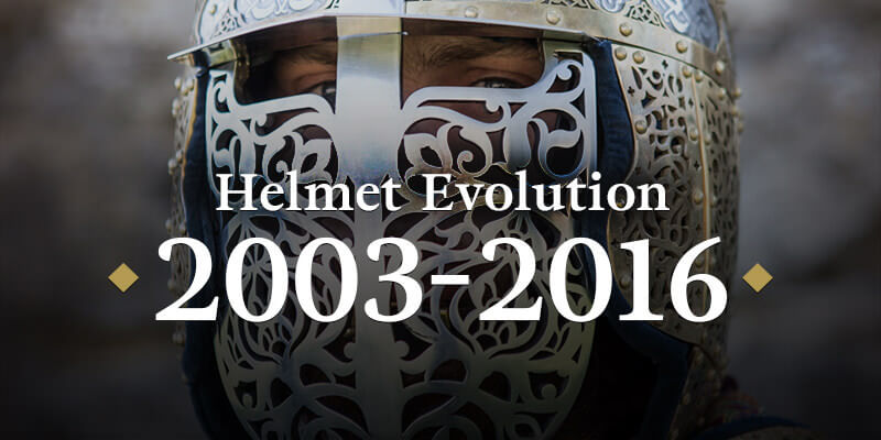Helmet Evolution 2003–2016