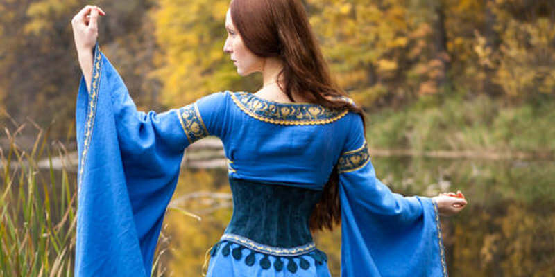"Linen Medieval Dress ""Lady of the Lake"": 2014 collection"