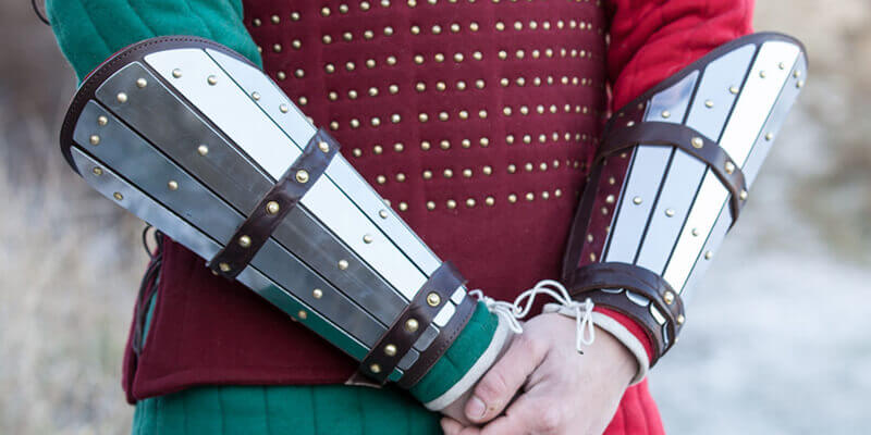 Medieval Eastern Europe Splint Exclusive Arm Armor Bracers