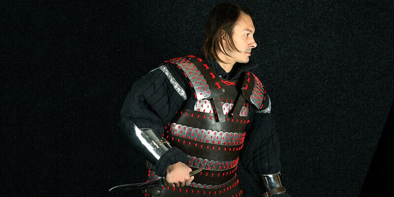 Medieval Lamellar Leather + Steel Armor Suit