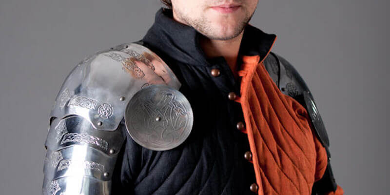 Medieval Pauldrons Spaulders Armor Sca With Celtic Etching