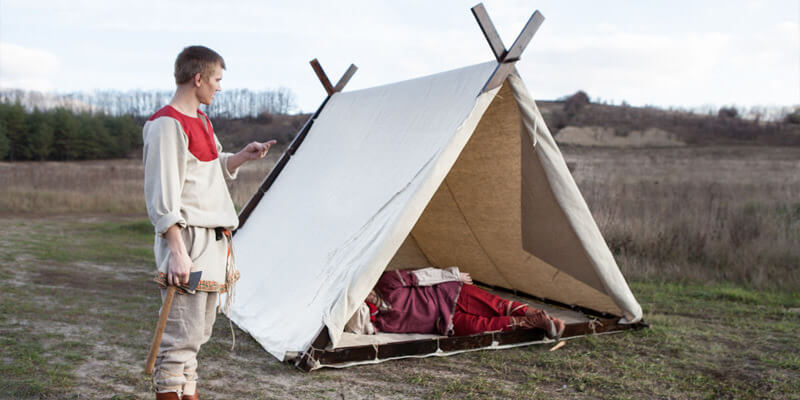 Medieval Viking's Canvas Tent