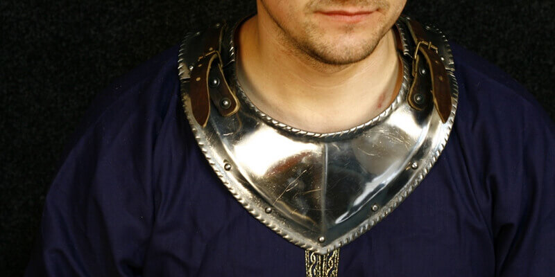 Medieval Western Armor Gorget with Cutted Bordering