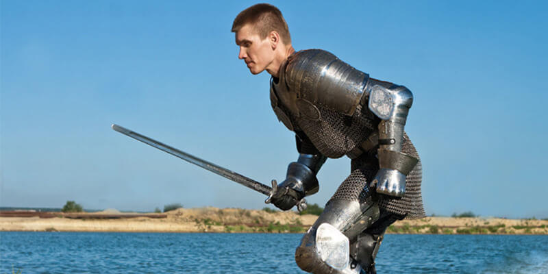 Paladin stainless etched full medieval knight armor set