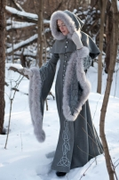 Wool grey fantasy coat