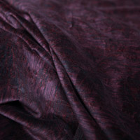 Flocked burgund velvet sample