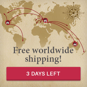 Free regular shipping worldwide! 50% off on express. 3 days left!